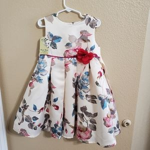 Richie House NWT Girls Floral Dress size 4/5 (XS)